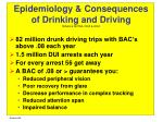 epidemiology consequences of drinking and driving niaaa nhtsa 2003 2004