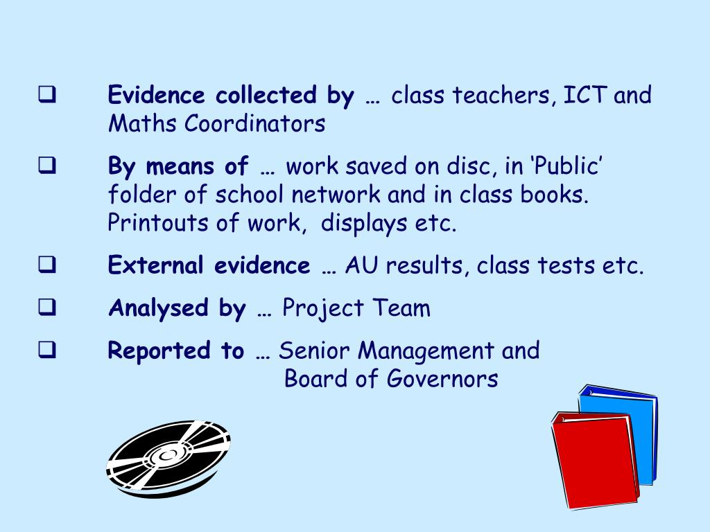 Evidence collected by …