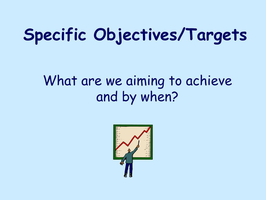 Specific Objectives/Targets