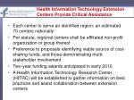 health information technology extension centers provide critical assistance18