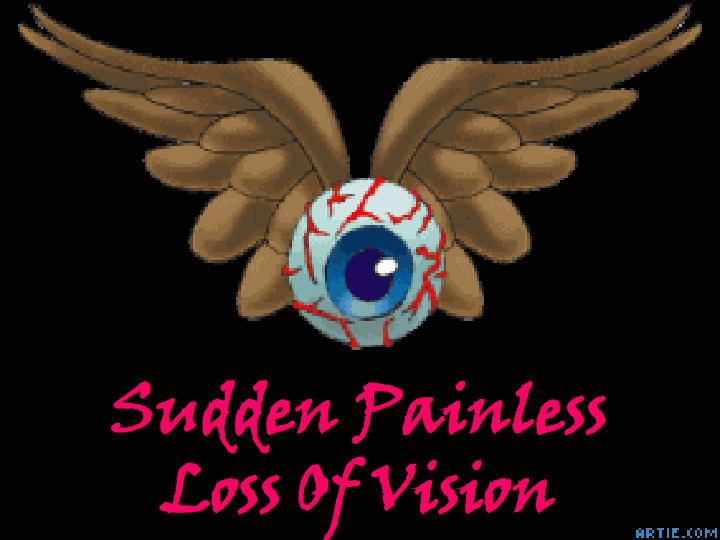 Sudden painless loss of vision