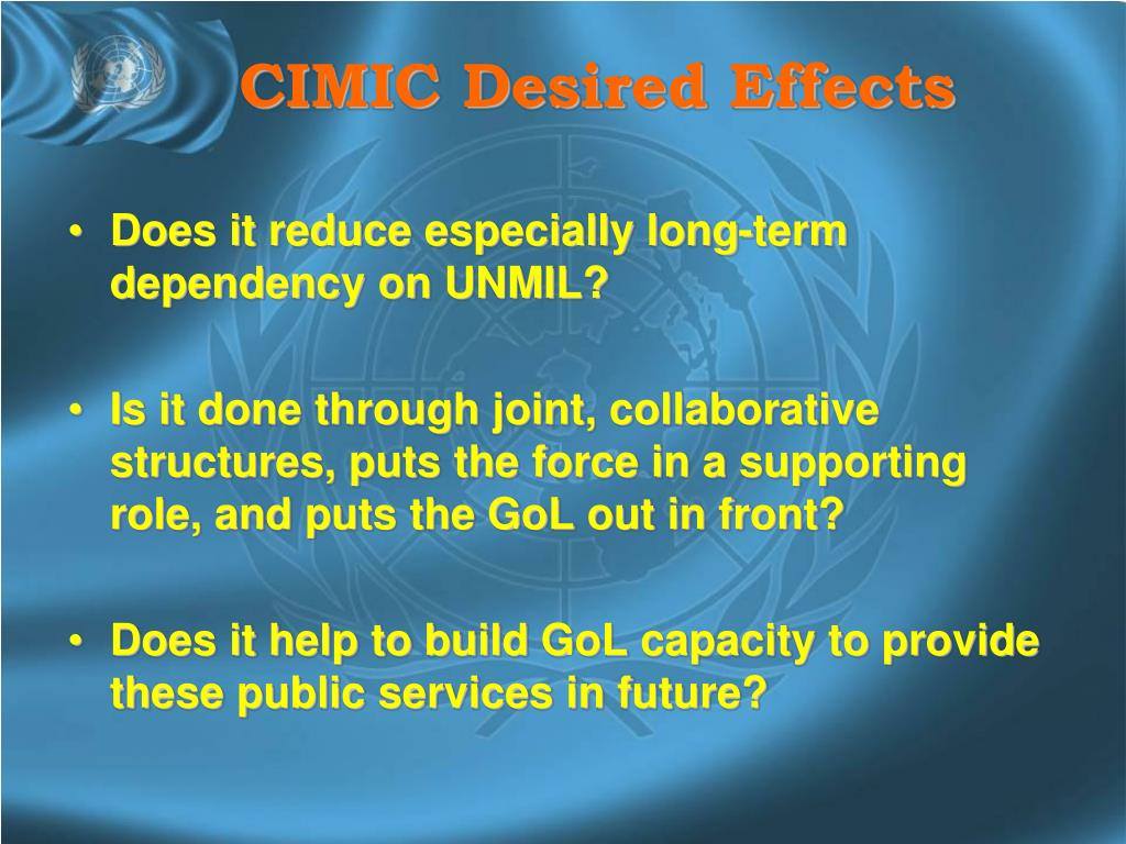 CIMIC Desired Effects