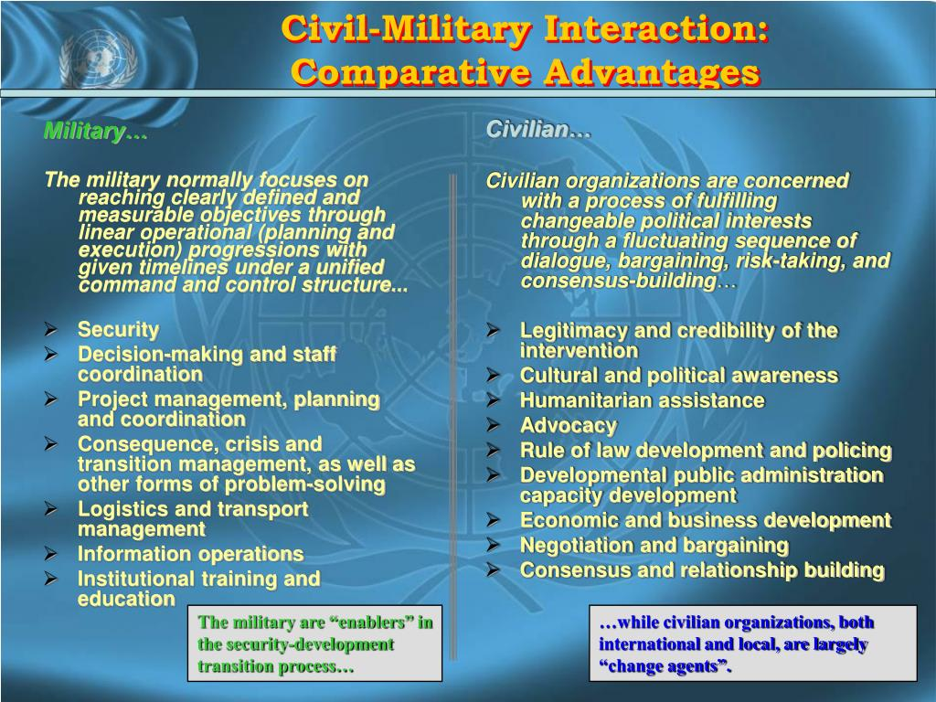Civil-Military Interaction: