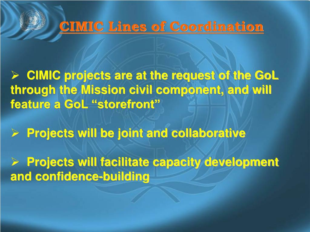 CIMIC Lines of Coordination
