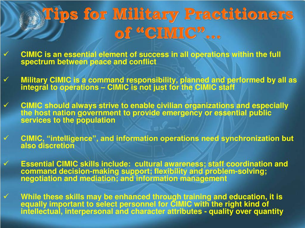 "Tips for Military Practitioners of ""CIMIC""…"
