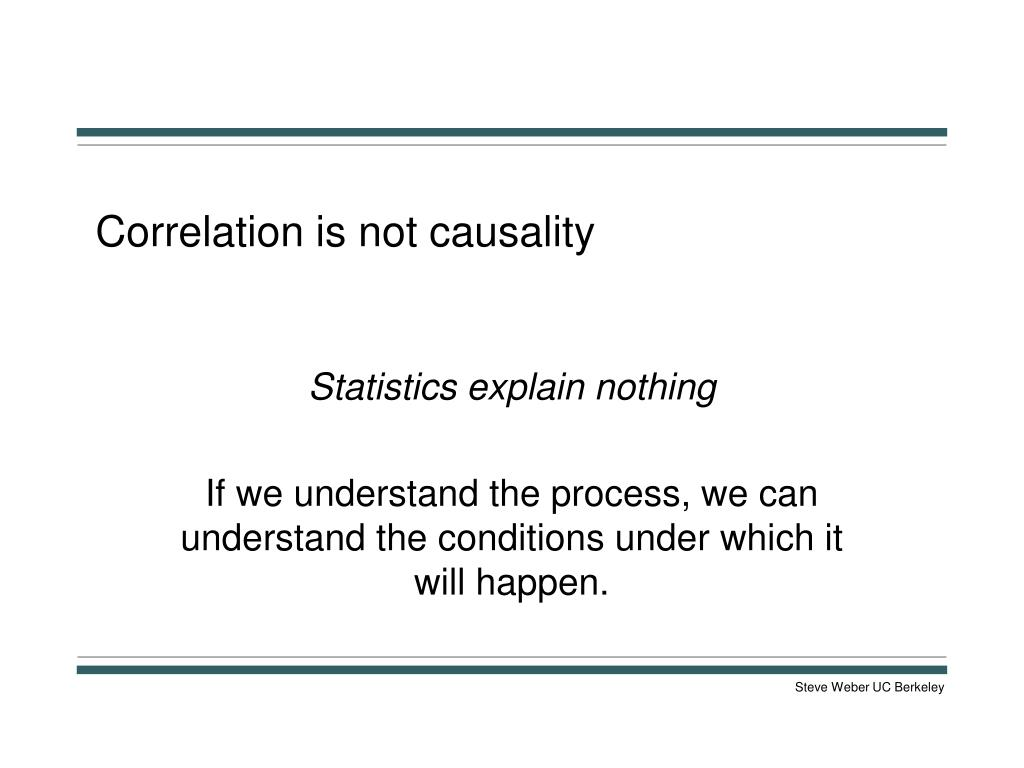 Correlation is not causality