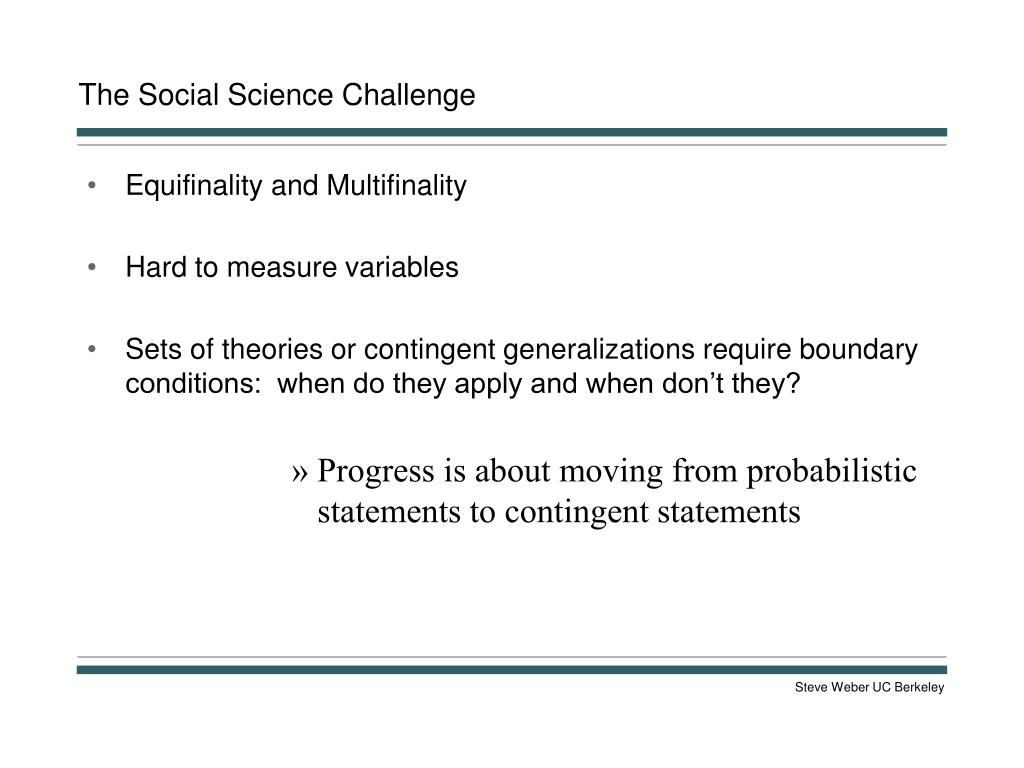 The Social Science Challenge