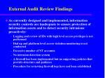external audit review findings