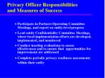 privacy officer responsibilities and measures of success