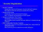 security organization