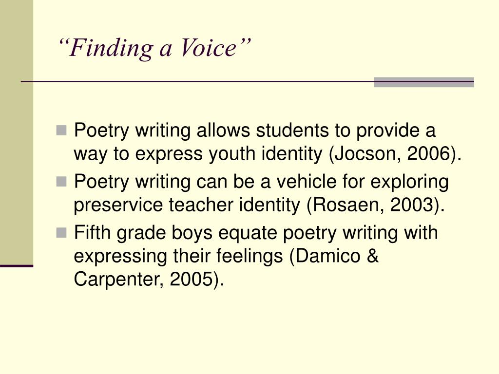 """""""Finding a Voice"""""""