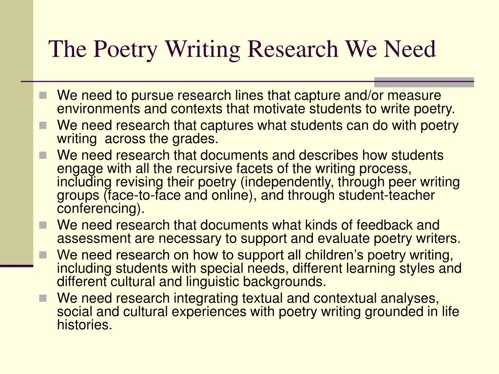 The Poetry Writing Research We Need