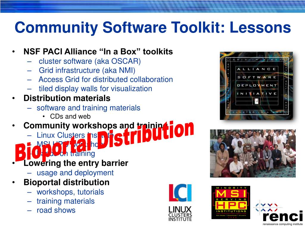 Community Software Toolkit: Lessons