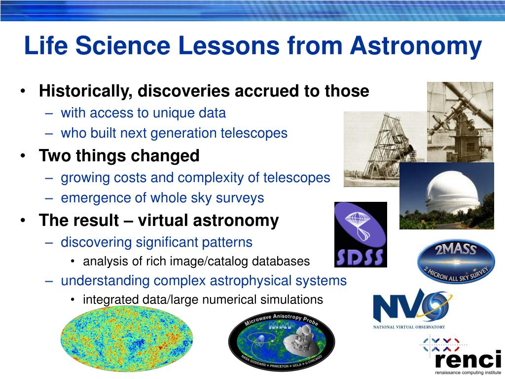 Life Science Lessons from Astronomy