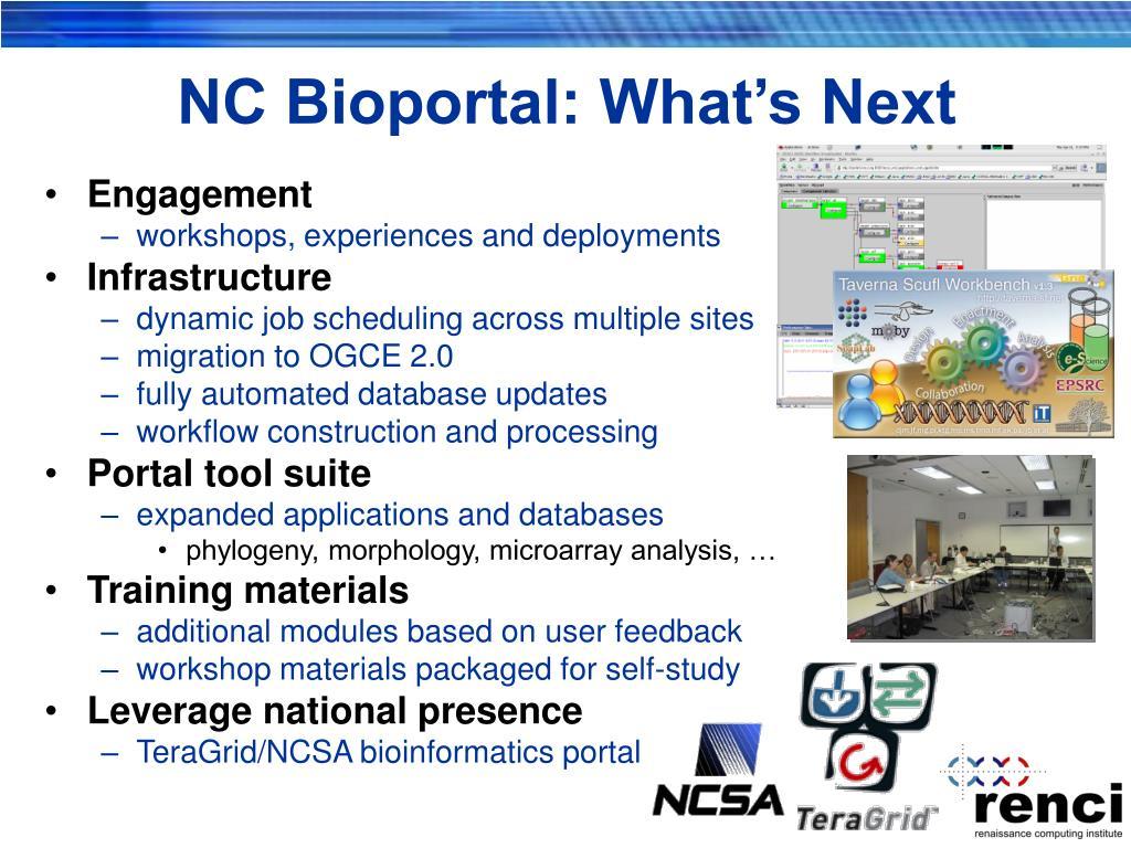 NC Bioportal: What's Next