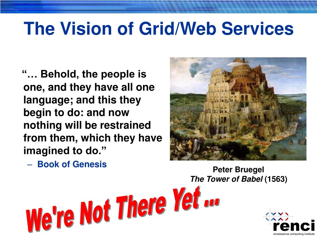 The Vision of Grid/Web Services