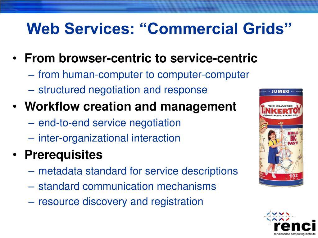"""Web Services: """"Commercial Grids"""""""