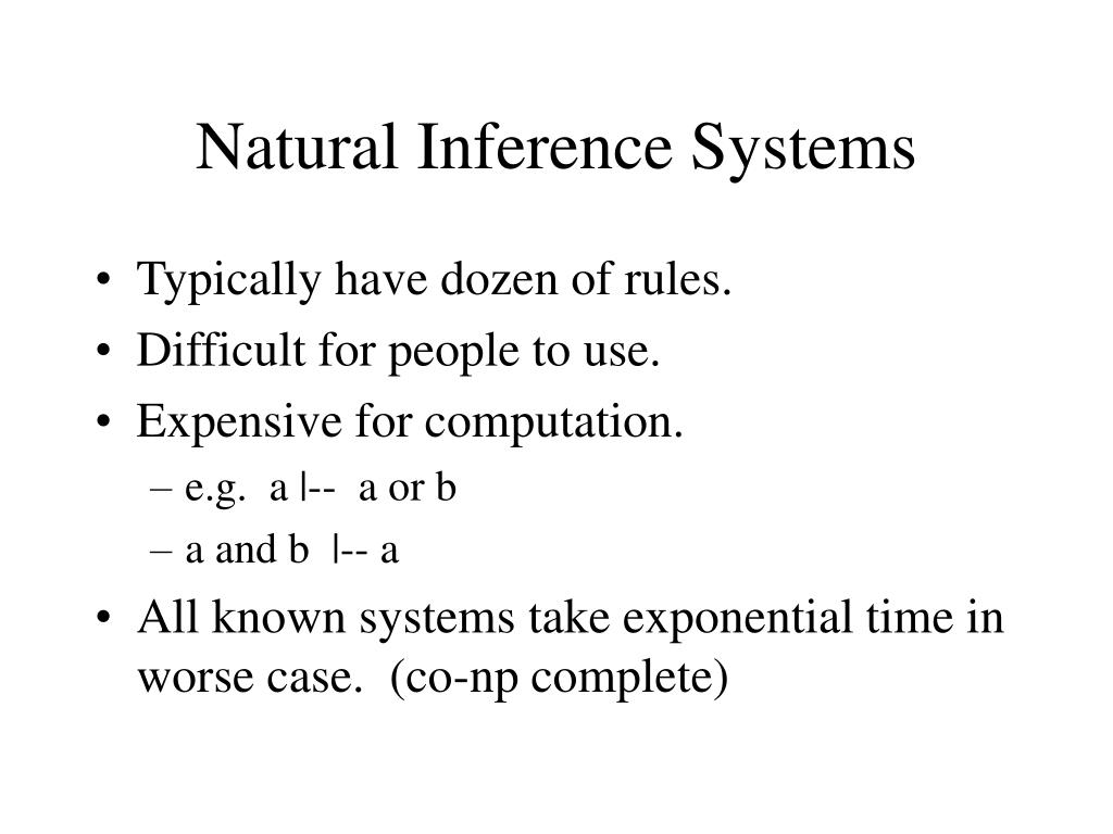 Natural Inference Systems