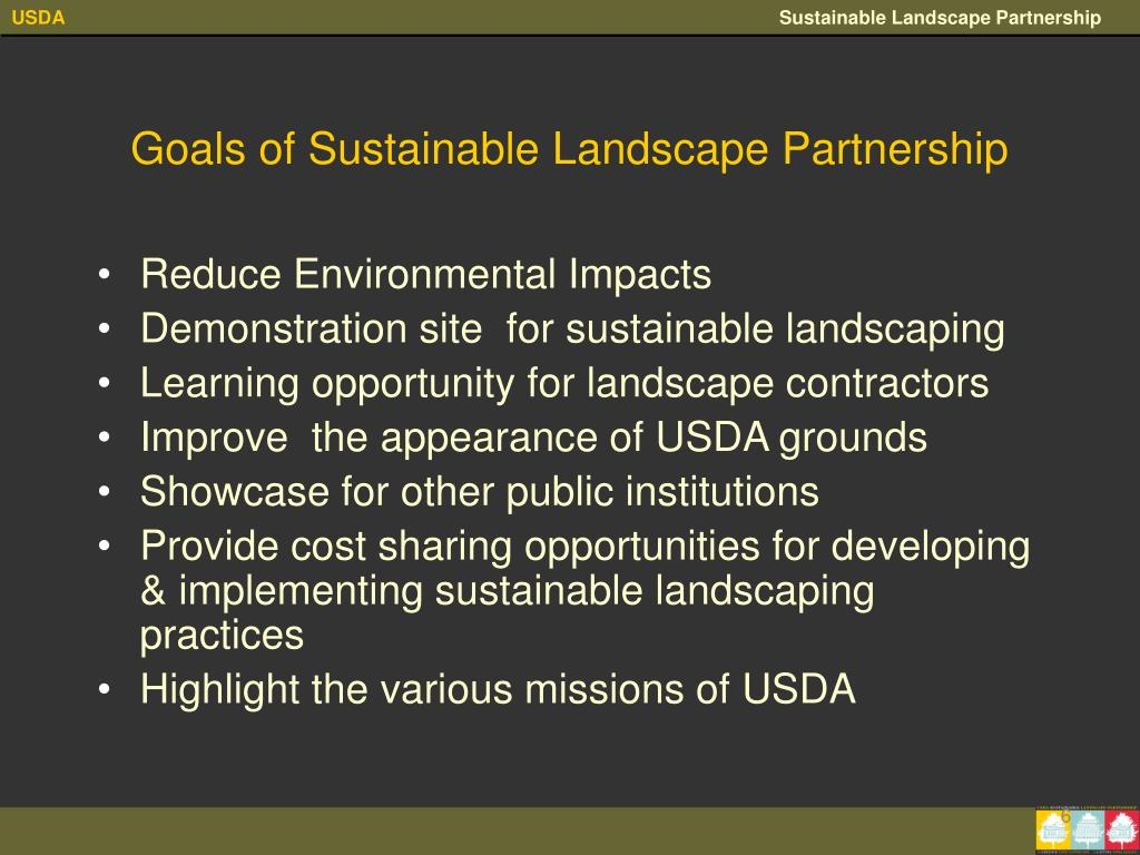 Goals of Sustainable Landscape Partnership