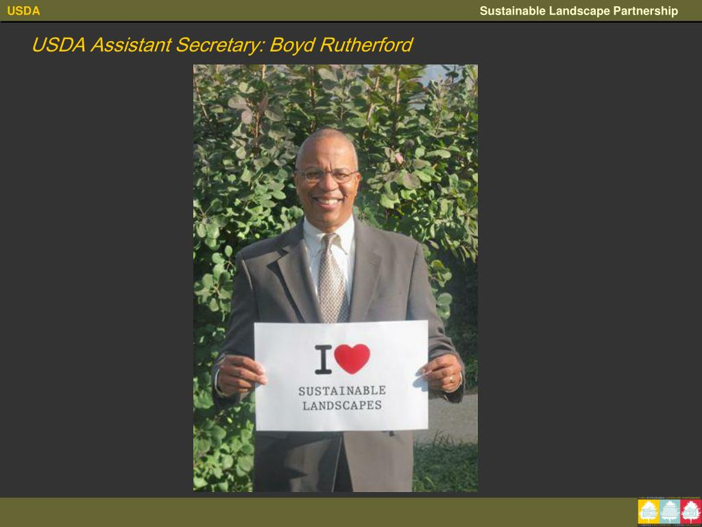 USDA Assistant Secretary: Boyd Rutherford