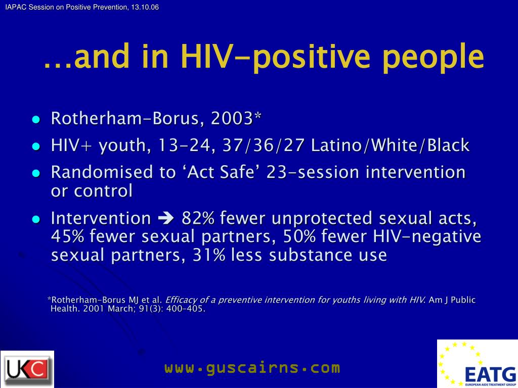…and in HIV-positive people