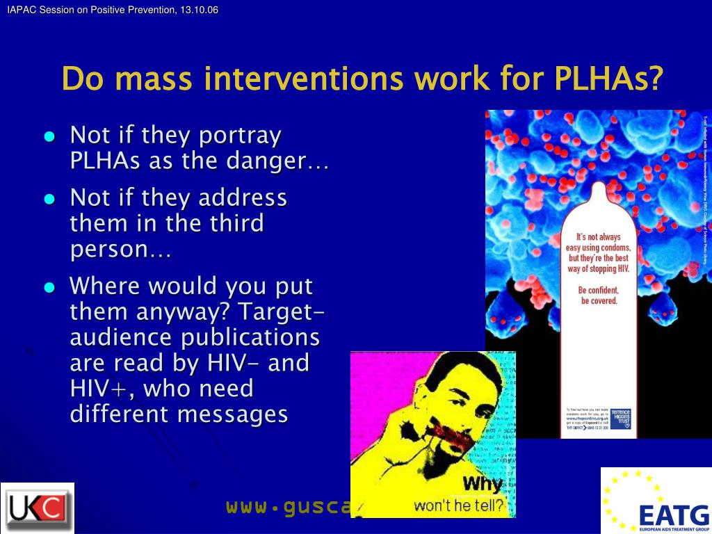 Do mass interventions work for PLHAs?
