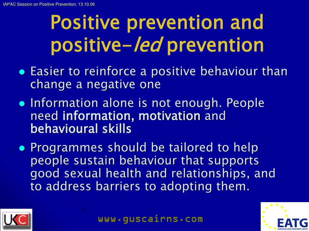 Positive prevention and positive-