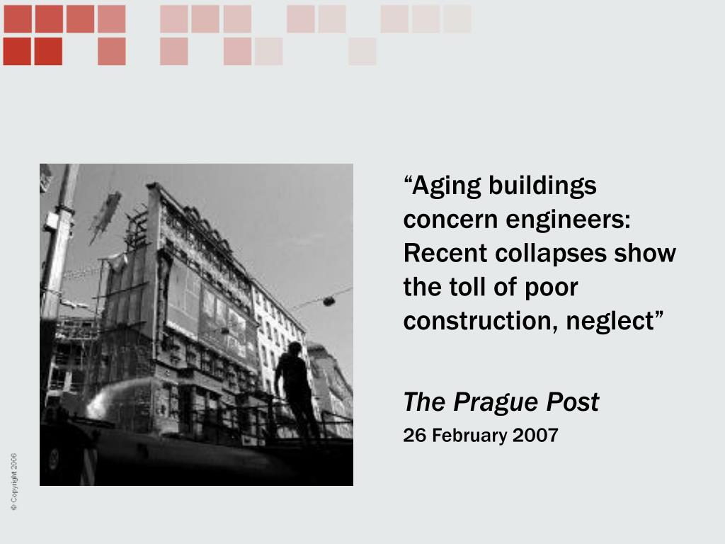 """""""Aging buildings concern engineers: Recent collapses show the toll of poor construction, neglect"""""""