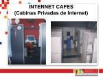 internet cafes cabinas privadas de internet
