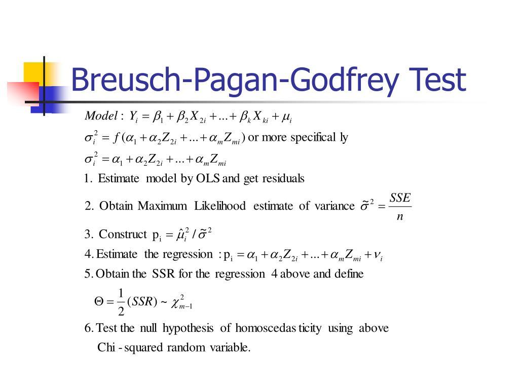 Breusch-Pagan-Godfrey Test