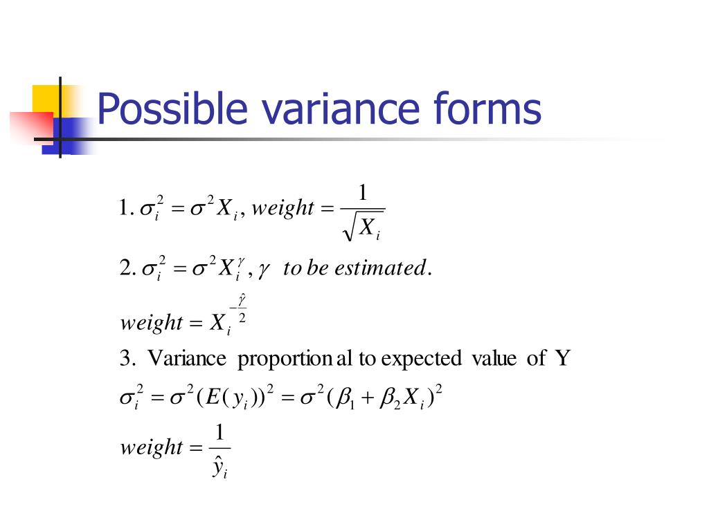 Possible variance forms