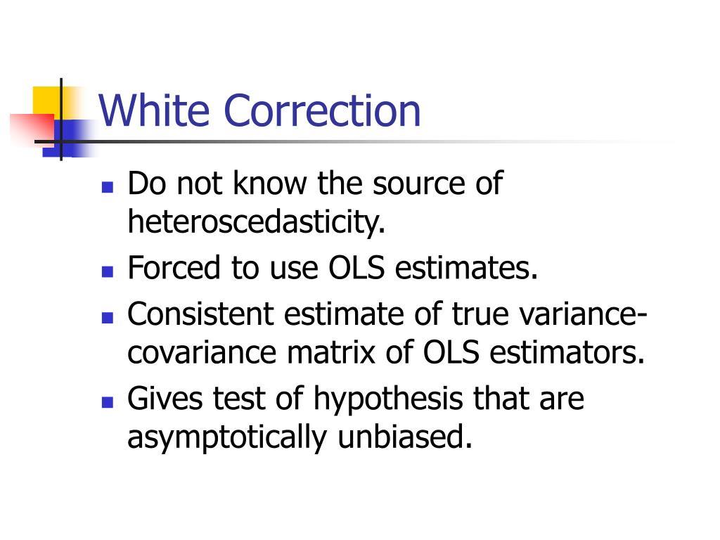 White Correction