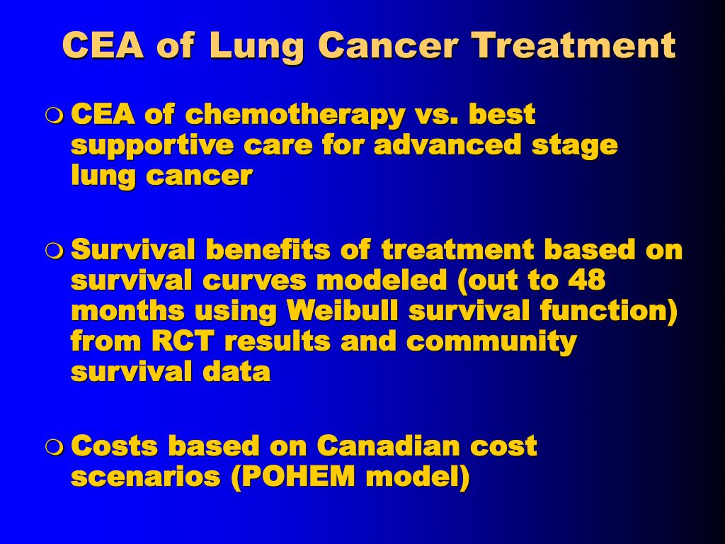 CEA of Lung Cancer Treatment