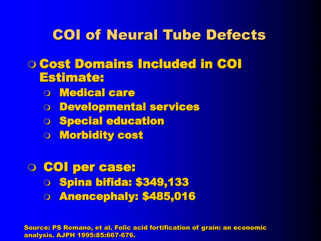 COI of Neural Tube Defects