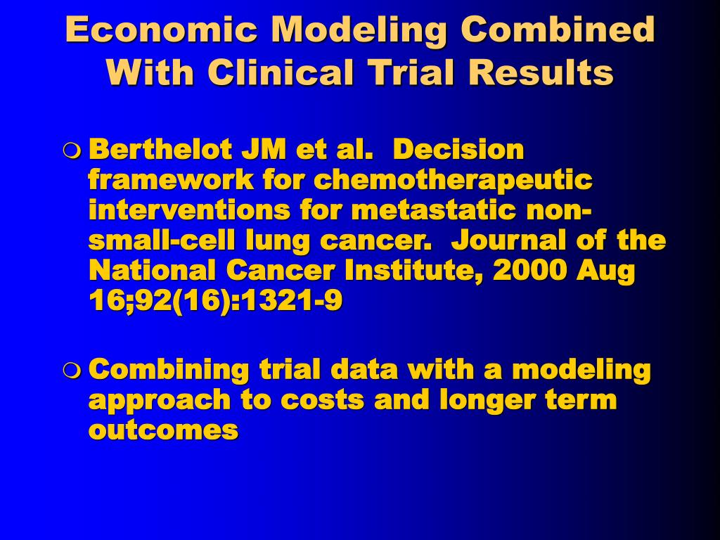 Economic Modeling Combined With Clinical Trial Results