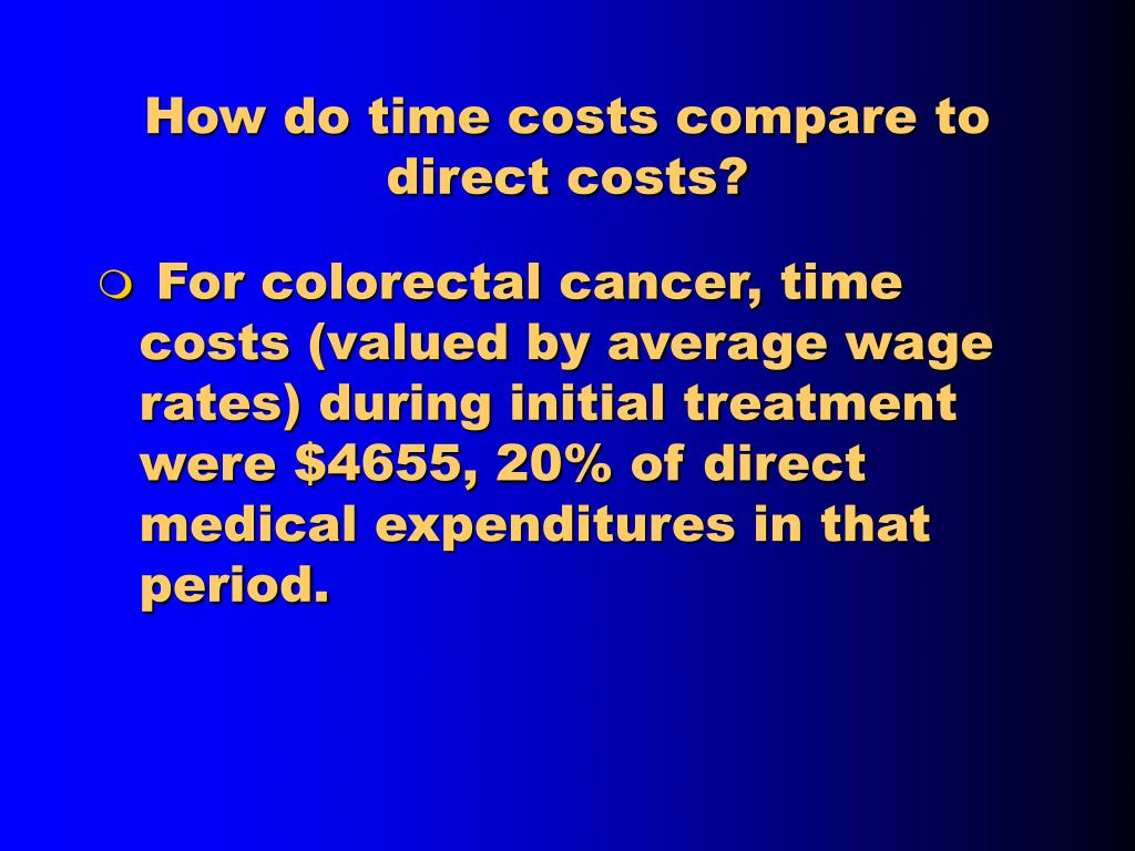 How do time costs compare to direct costs?
