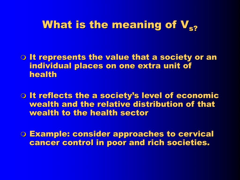 What is the meaning of V