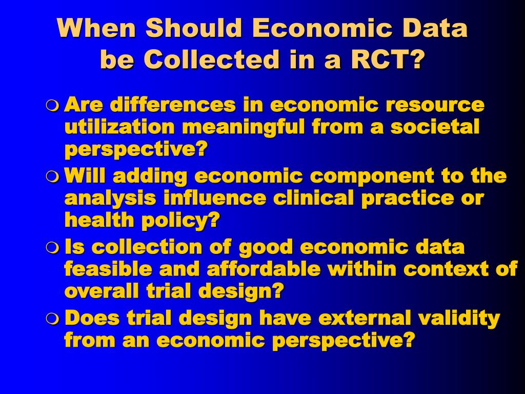 When Should Economic Data be Collected in a RCT?