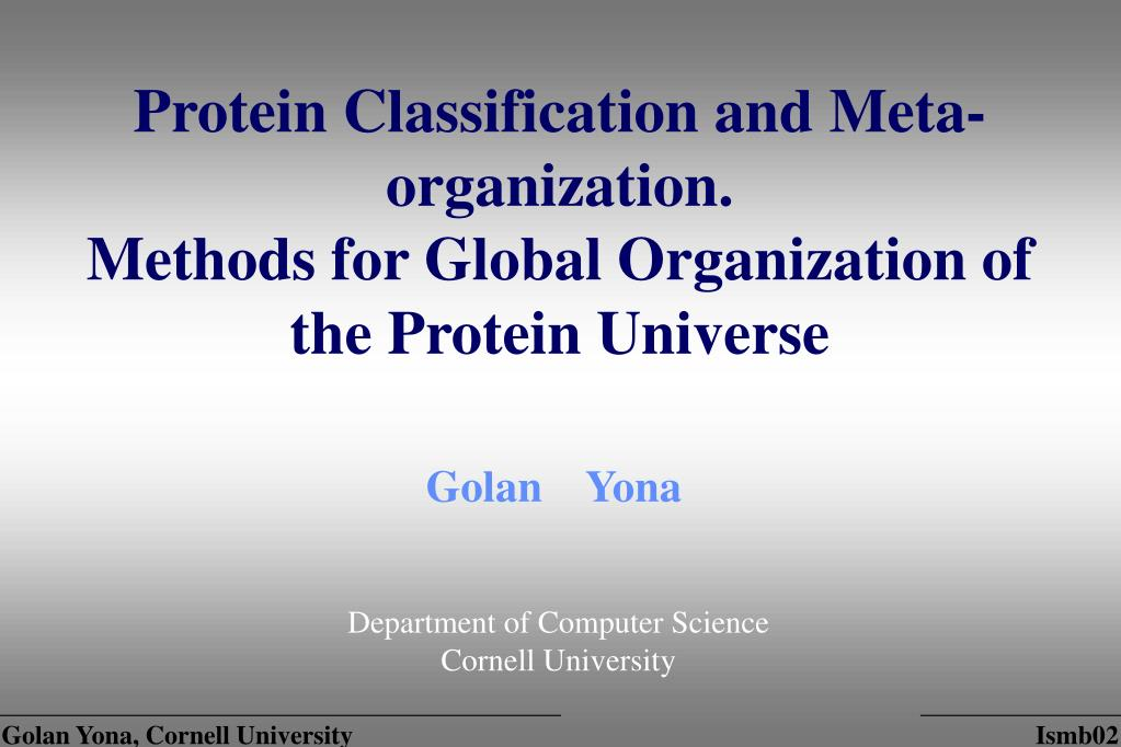 Protein Classification and Meta-organization.