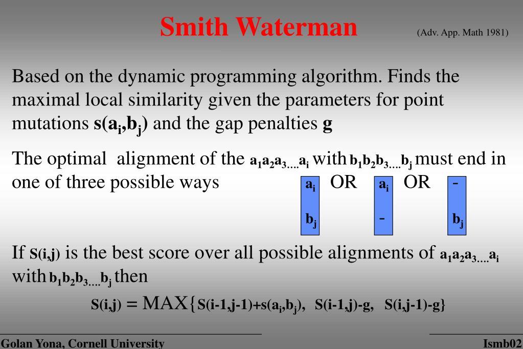 Smith Waterman