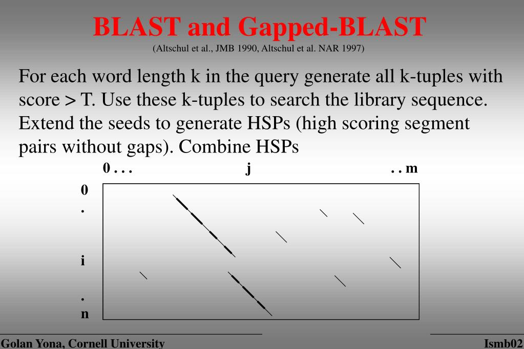 BLAST and Gapped-BLAST