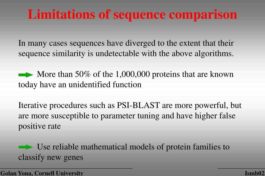 Limitations of sequence comparison