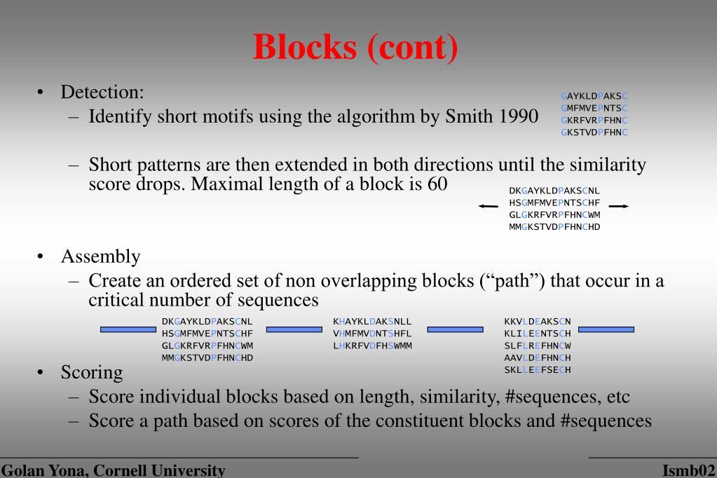 Blocks (cont)