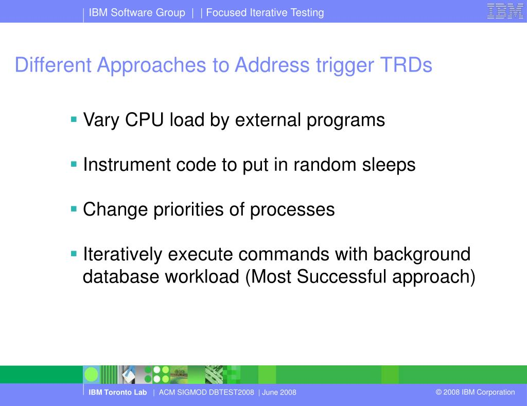 Different Approaches to Address trigger TRDs