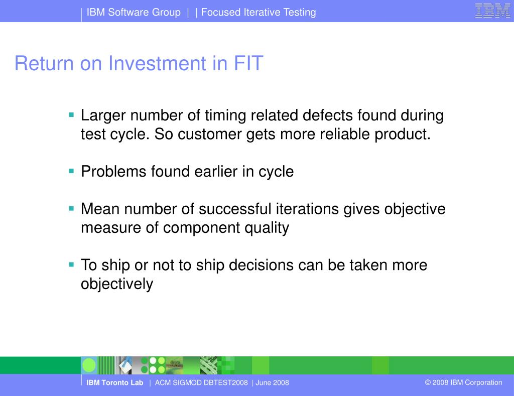 Return on Investment in FIT
