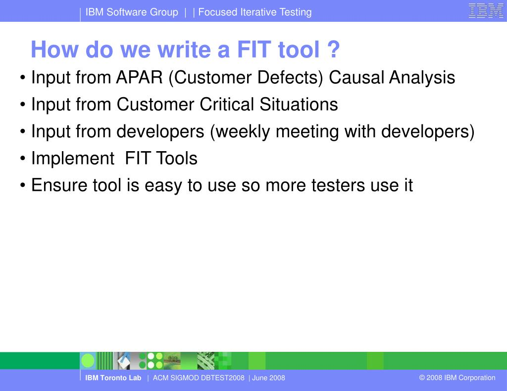 How do we write a FIT tool ?