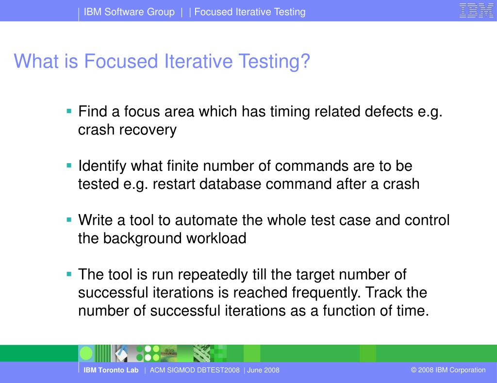 What is Focused Iterative Testing?