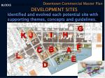 development sites blocks