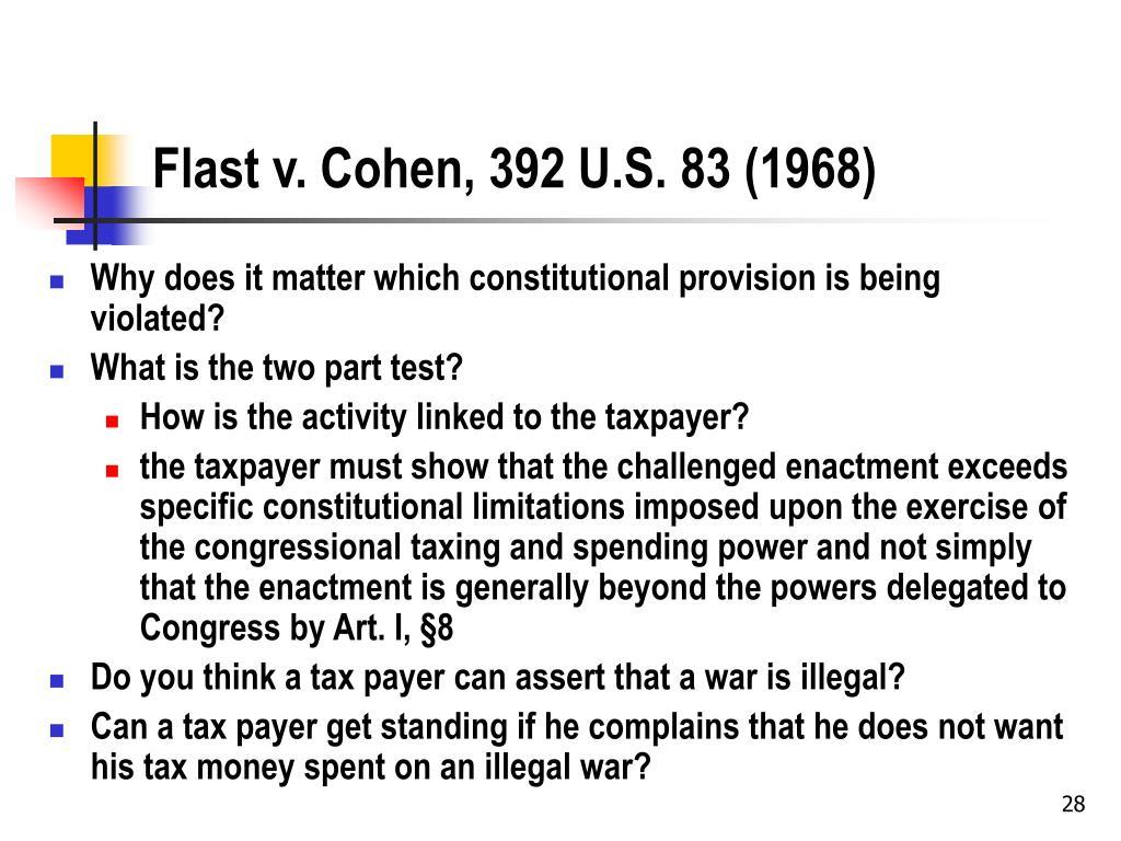 Flast v. Cohen, 392 U.S. 83 (1968)
