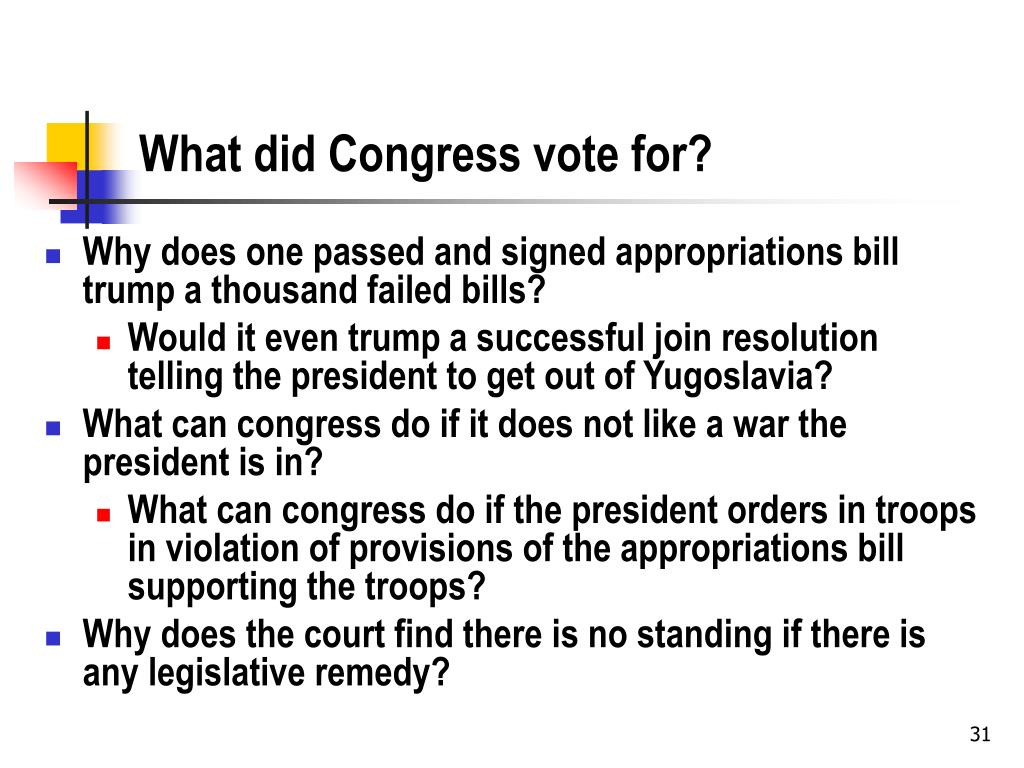 What did Congress vote for?